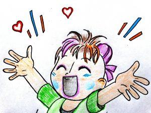 Kind freut sich - Comic