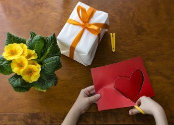 Geschenk basteln Herz