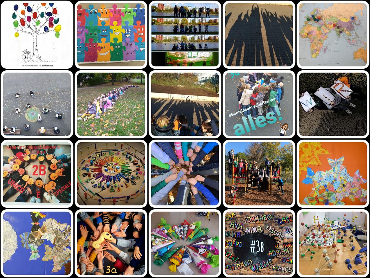 """Collage GEMEINSAM - Novemberausstellug 2020 zum Thema """"Gemeinsam!"""""""